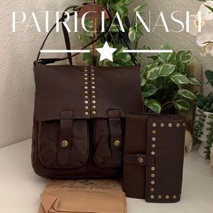 Patricia Nash Crossbody bag/ Wallet bundle set
